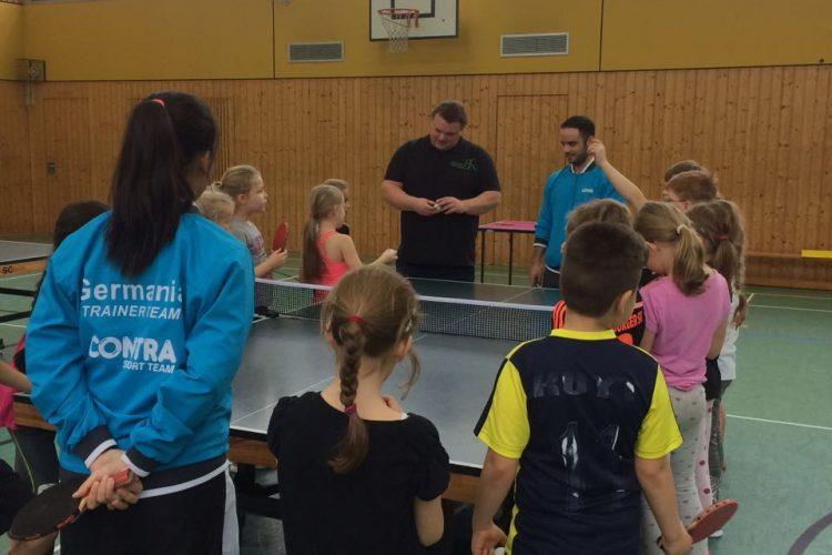 Das Schnuppermobil zu Gast an der Schule Anna-Susanna-Stieg