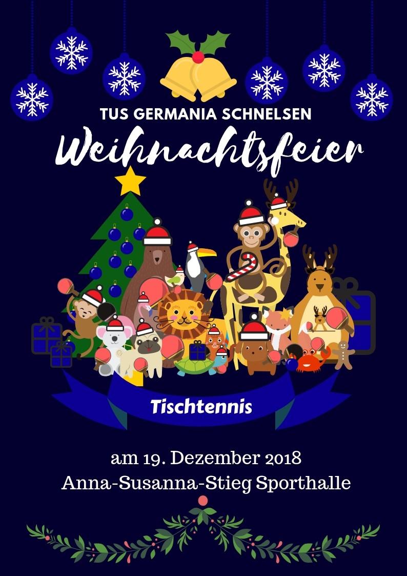 Artikel Weihnachtsfeier.Jugendabteilung Einladung Zur Weihnachtsfeier 2018 Tus Germania